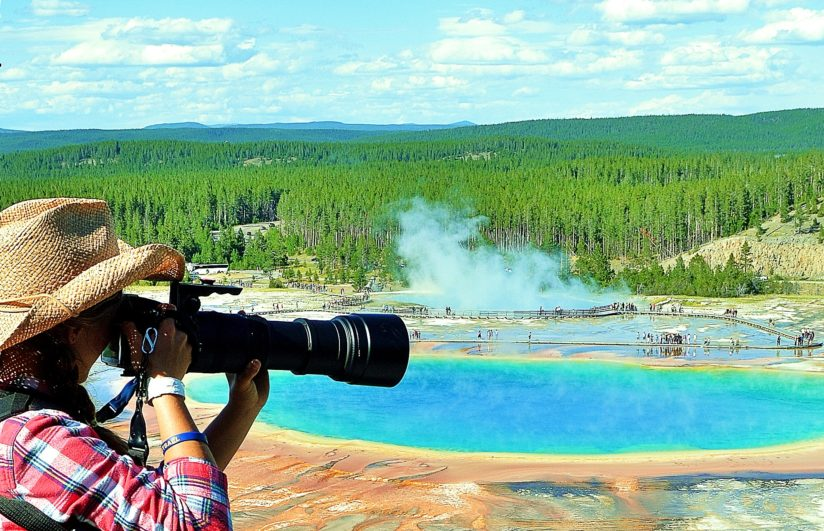 Jessie Above Grand Prismatic Yellowstone Park
