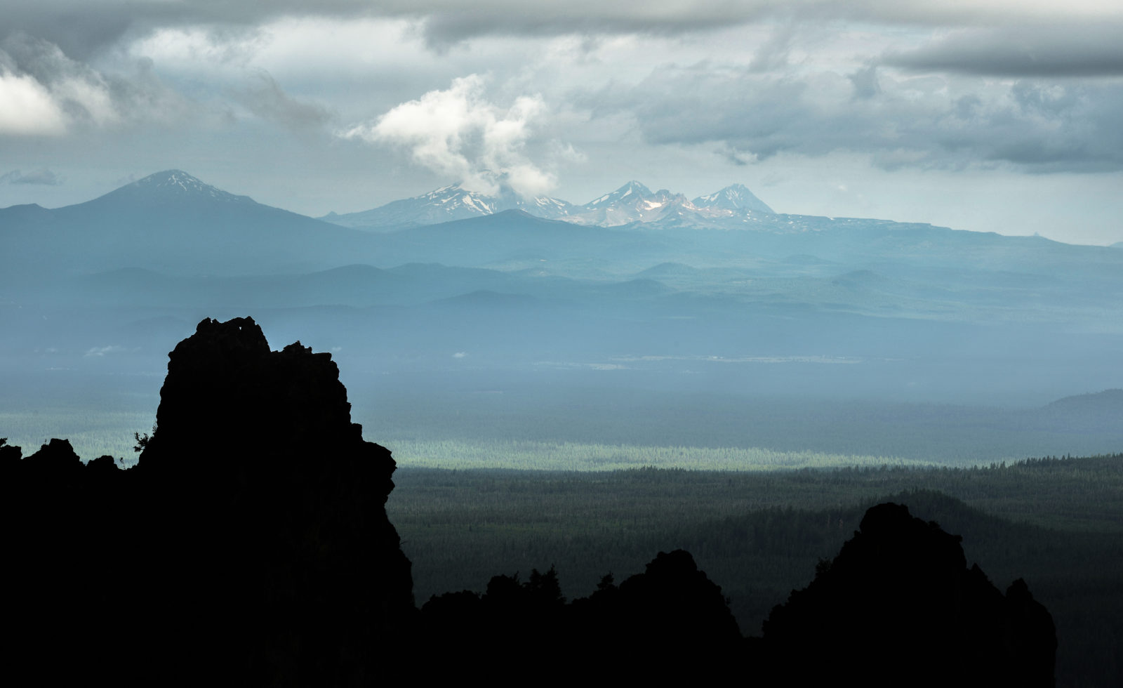 Three Sisters from Paulina Peak