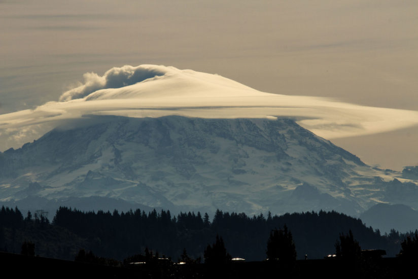 Mt Rainier in a Harry Potter Sorting Hat