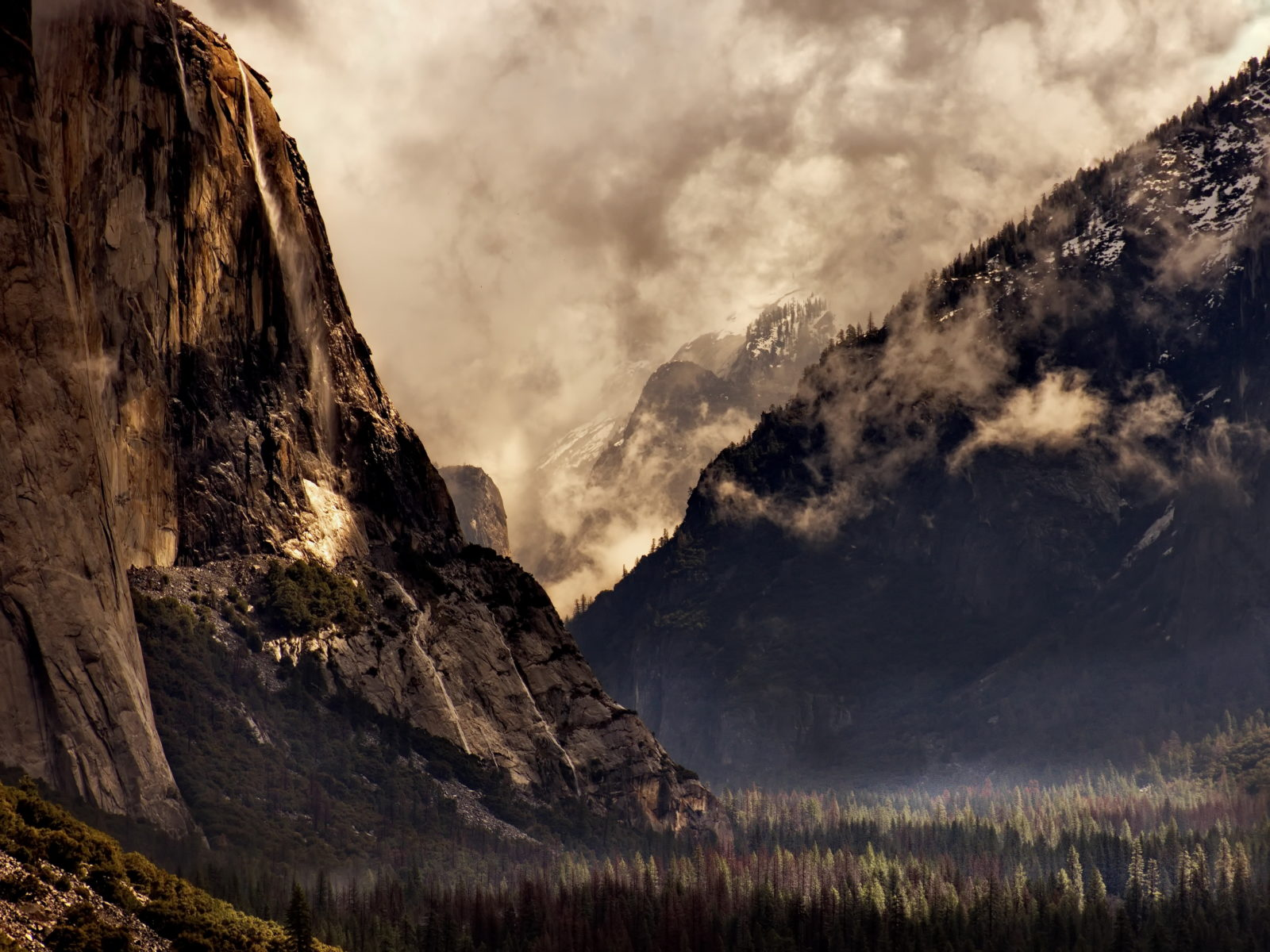 Yosemite Valley Clearing Storm