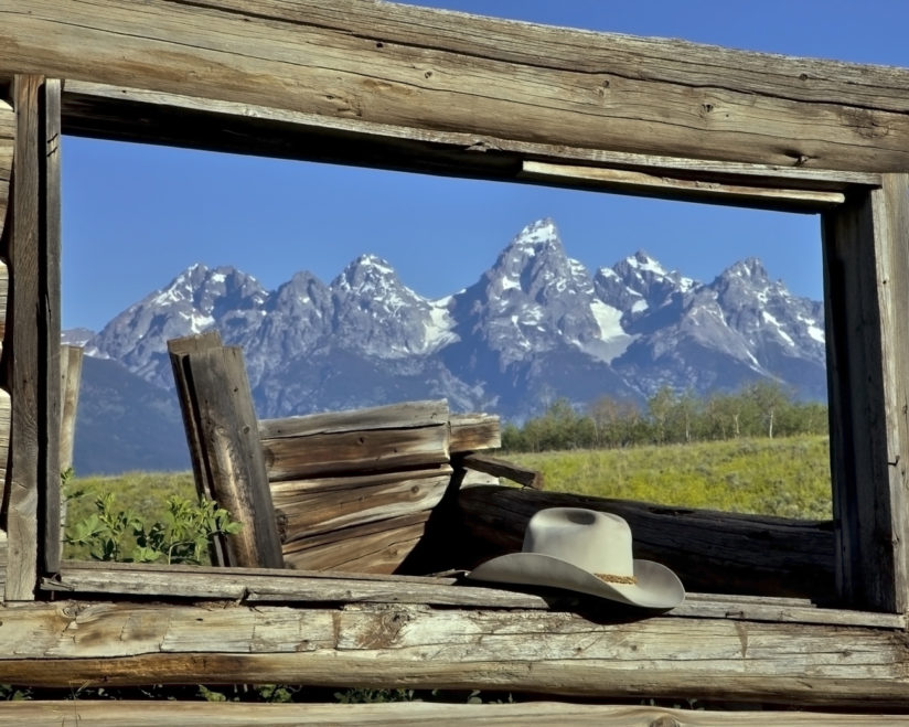 Hat, Window, Grand Tetons