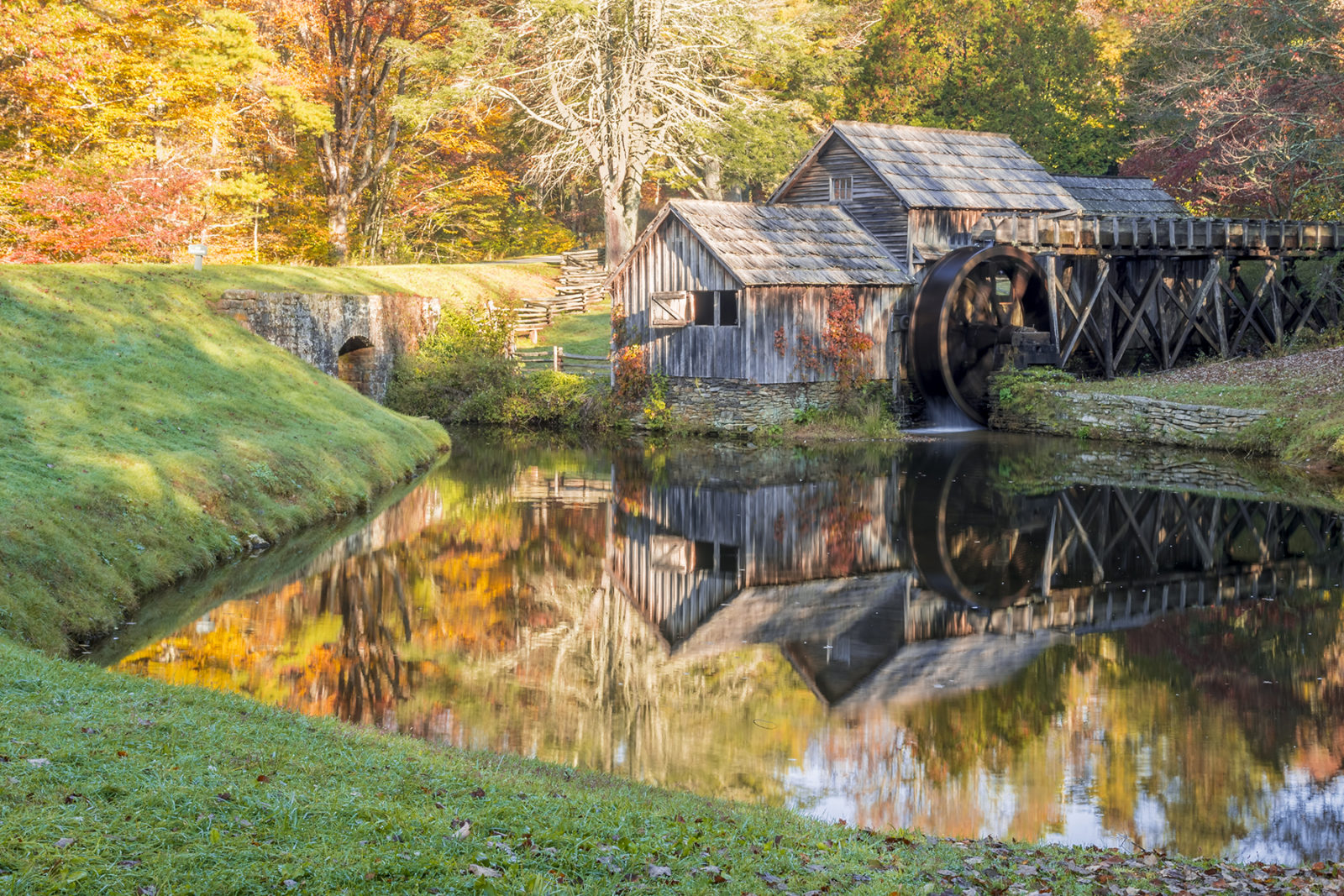 Mabry Mill in Fall