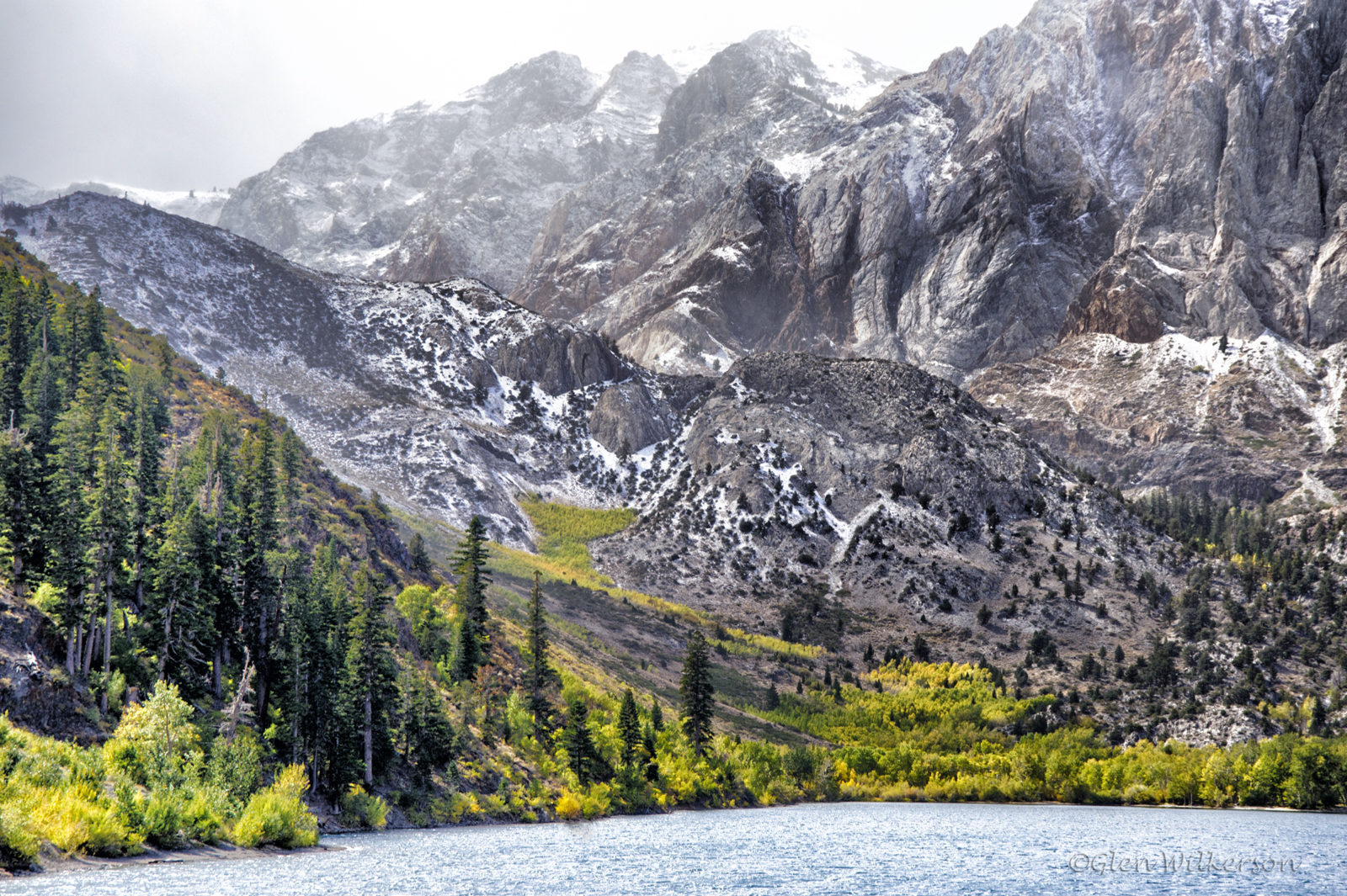 Snowstorm and Fall Color at Convict Lake
