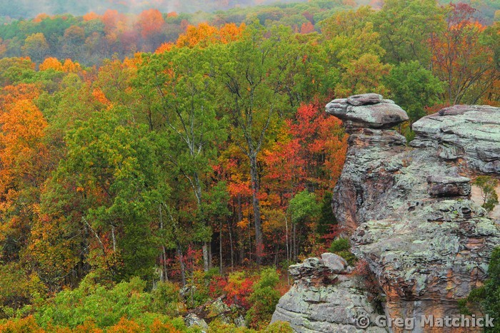 Autumn View of Camel Rock 1