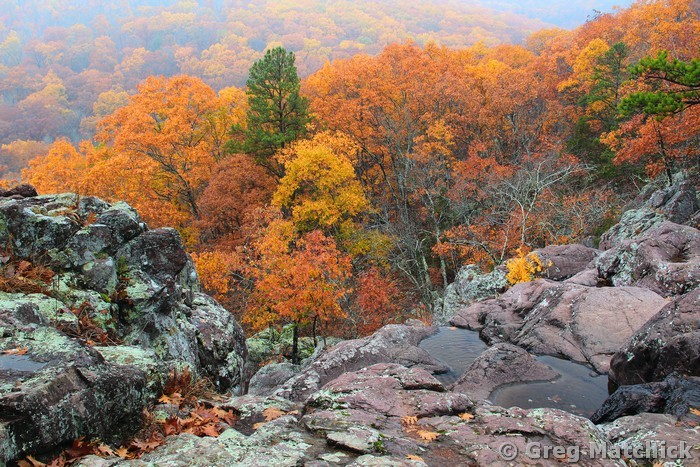 Autumn View Above Mina Sauk Falls 1