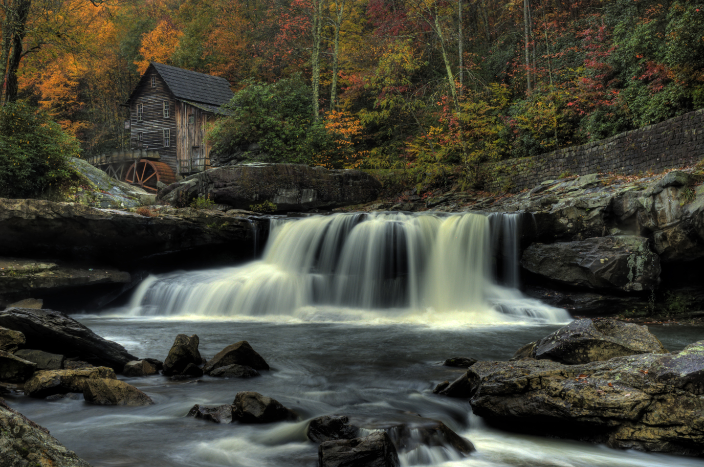 Grist Mill and Waterfall