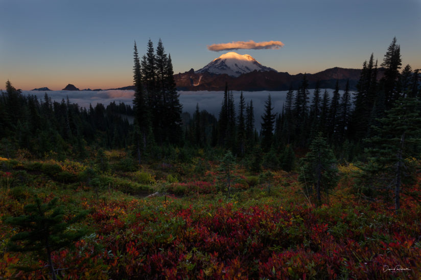 First Light On Rainier