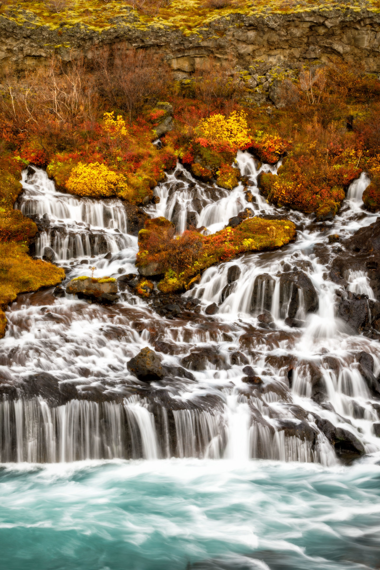 Hraunfossar in Autumn
