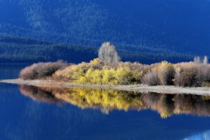 Fall reflections, Hebgen Lake, Montana