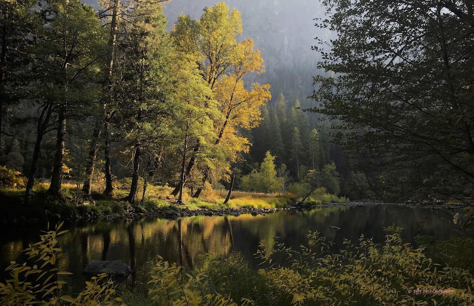 Autumn on the Merced River (Yosemite National Park)