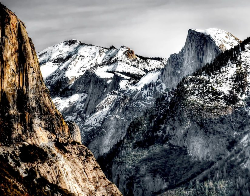 The Trinity: El Capitan, Clouds Rest, and Half Dome
