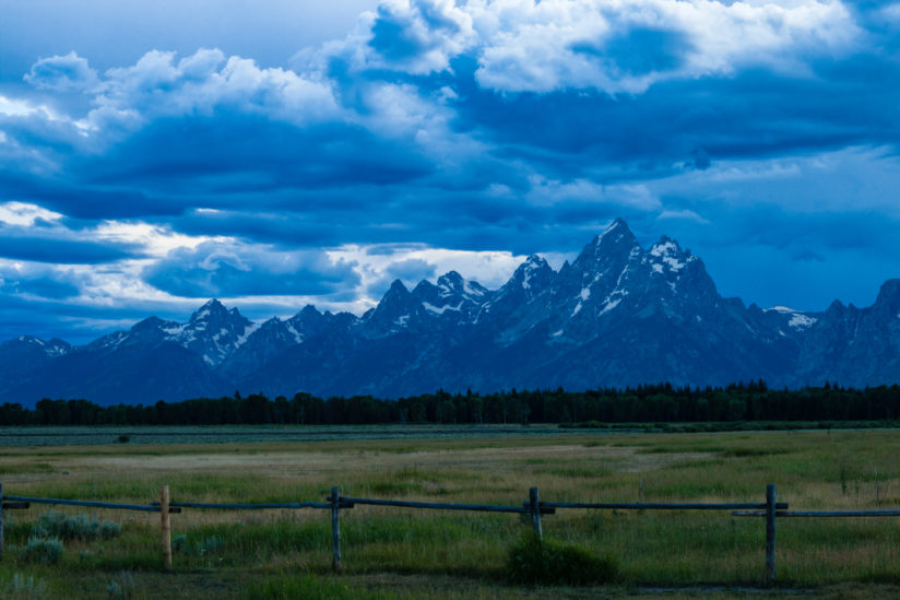 Tetons in Blue