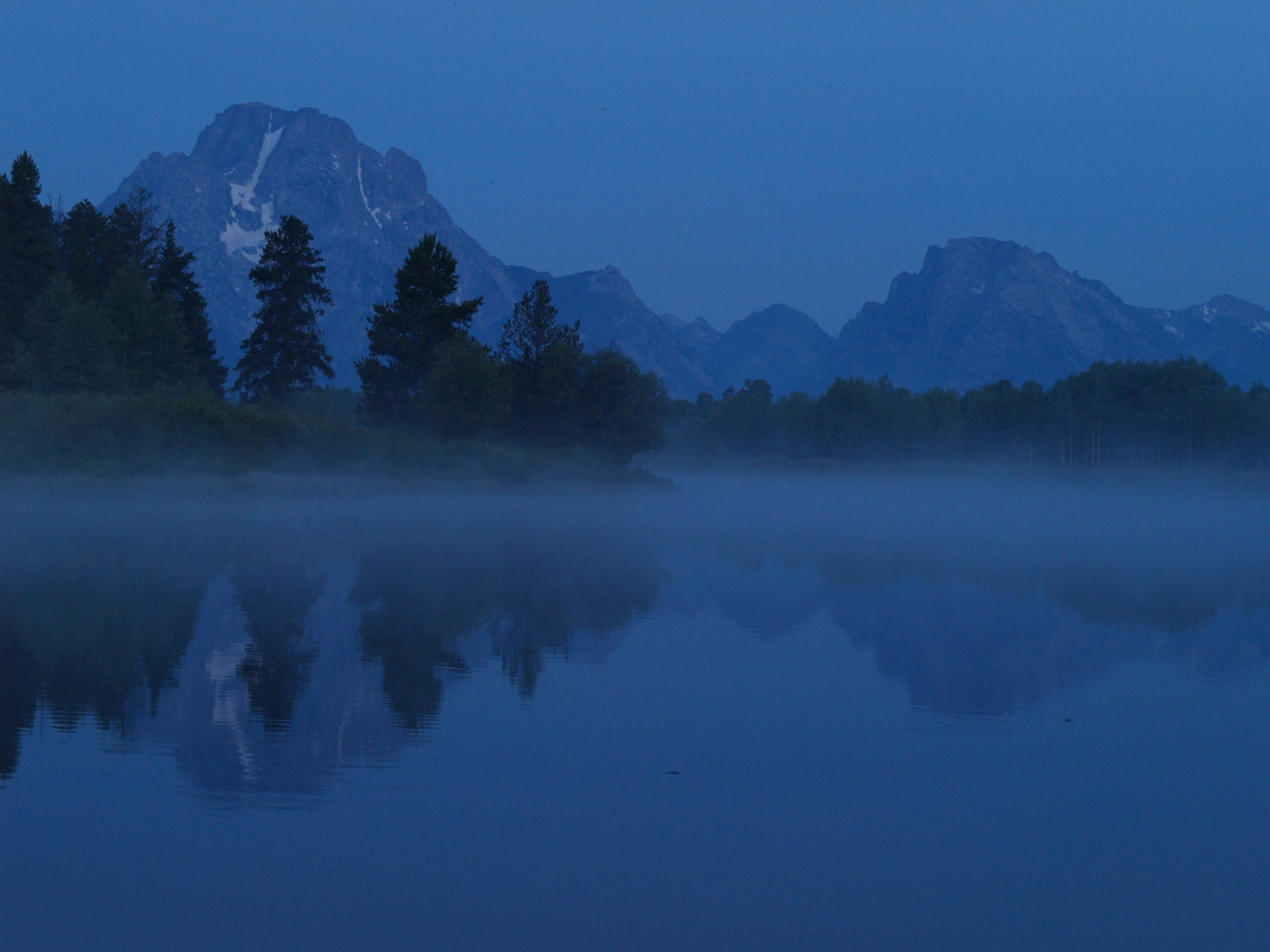 Oxbow Bend in blue