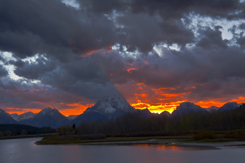 October Sunset at the Oxbow
