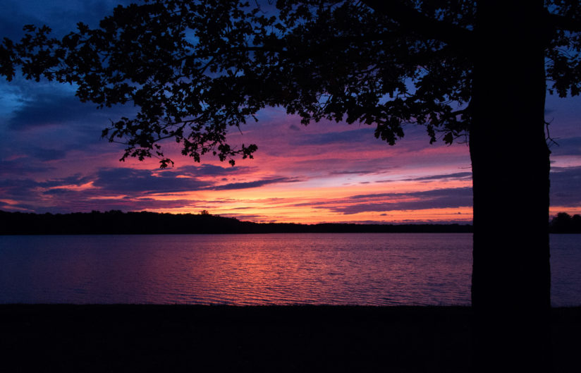 September Sunset at Portage Lake