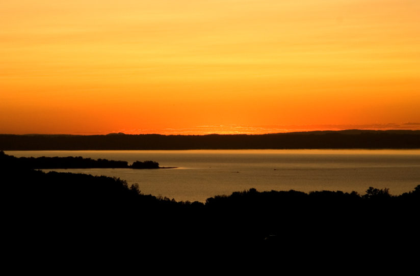 Autumn Sunset Over Little Traverse Bay