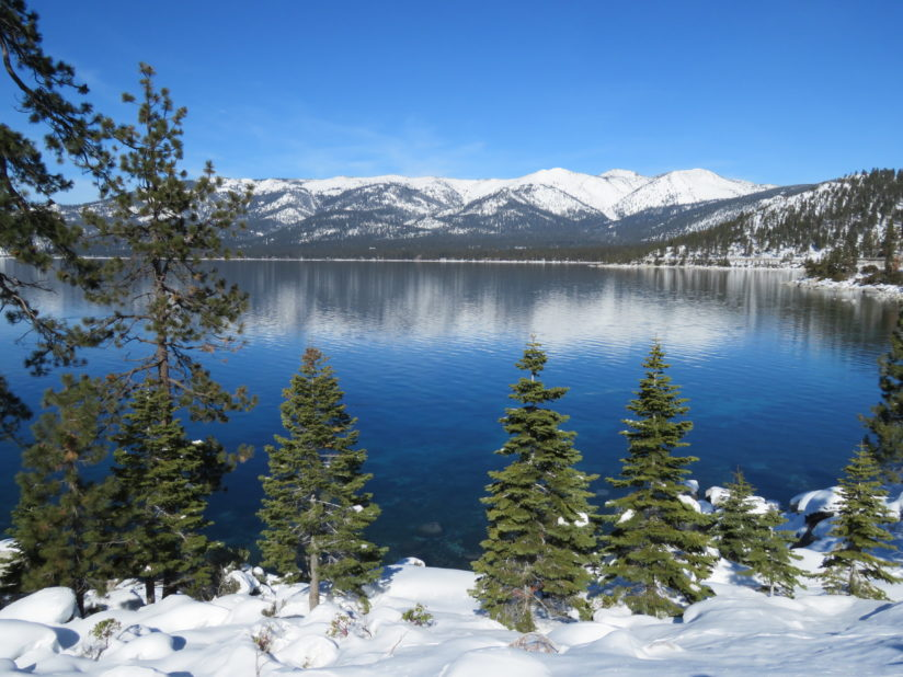 Tahoe Reflections after Heavy Snow