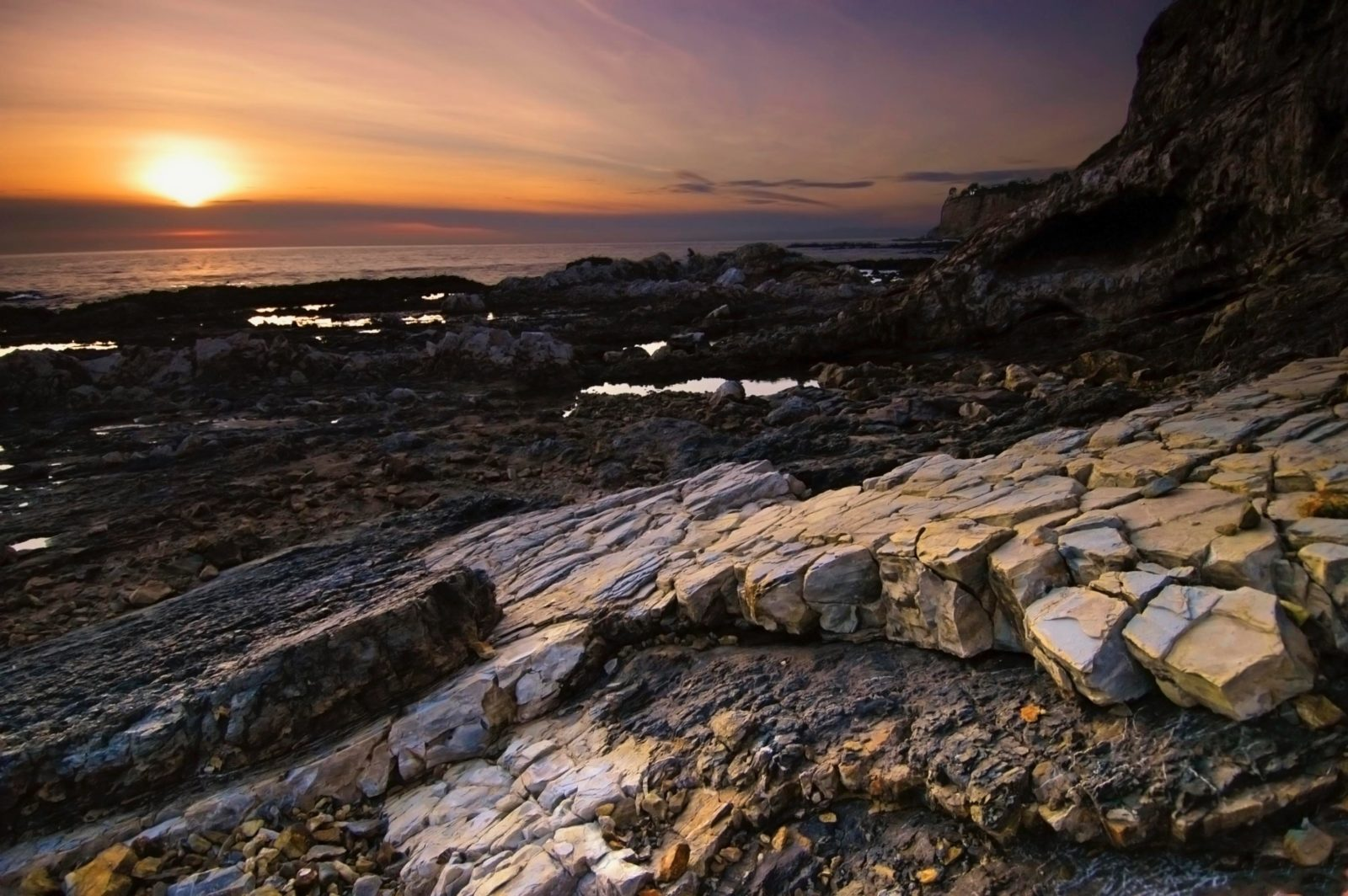 Rocks and Sunset