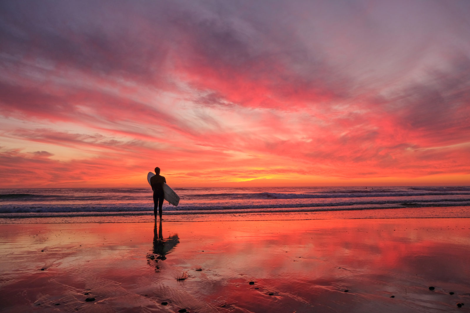 A Surfer Sunset