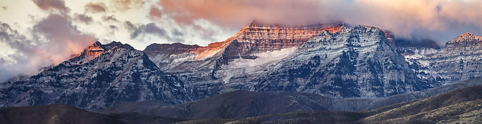 First light on Mt Timpanogos