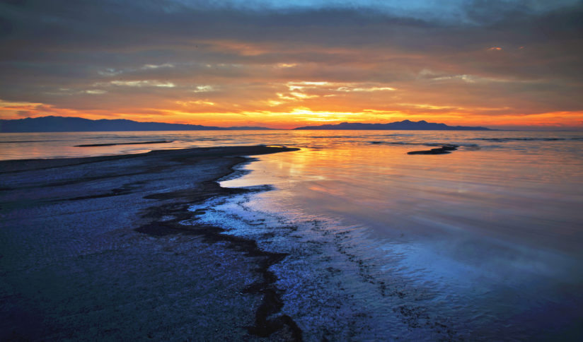 Great Salt Lake Sunset
