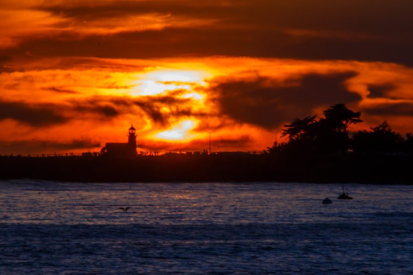 Santa Cruz Lighthouse at Sunset