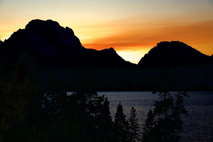 Mount Moran Sunset