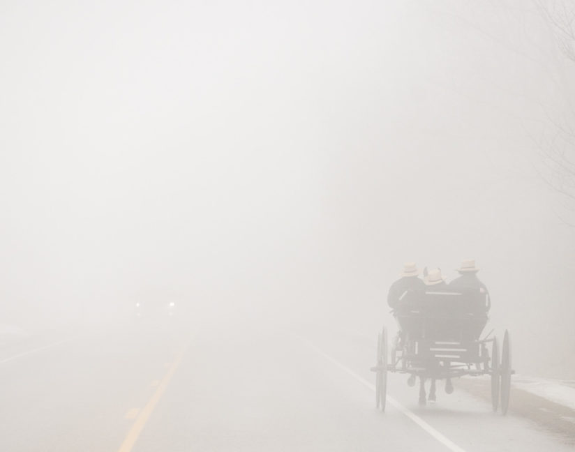 Amish in a Fog