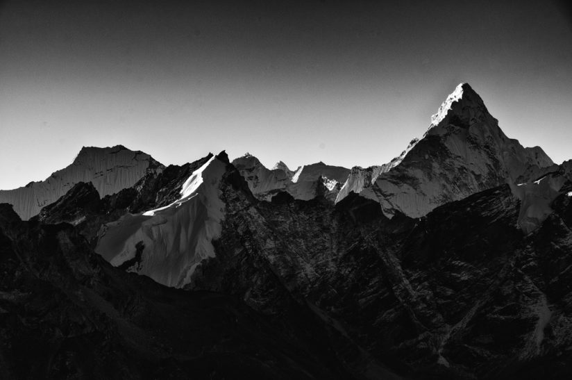 First Light on the Himalaya.