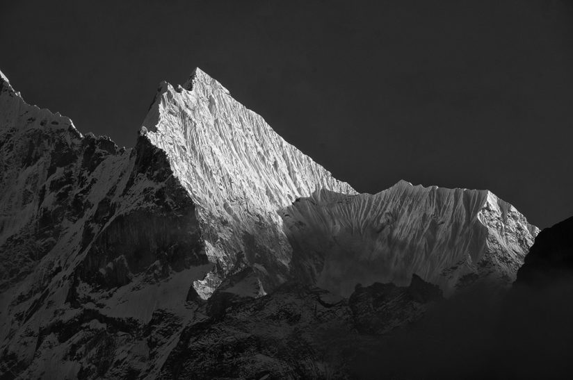 Last Light on Himalayan Peak.