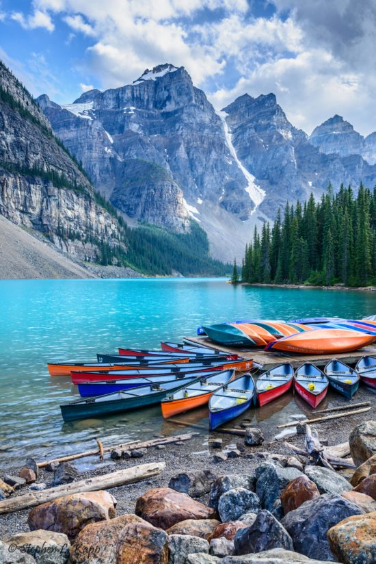 Moraine Lake & Canoes