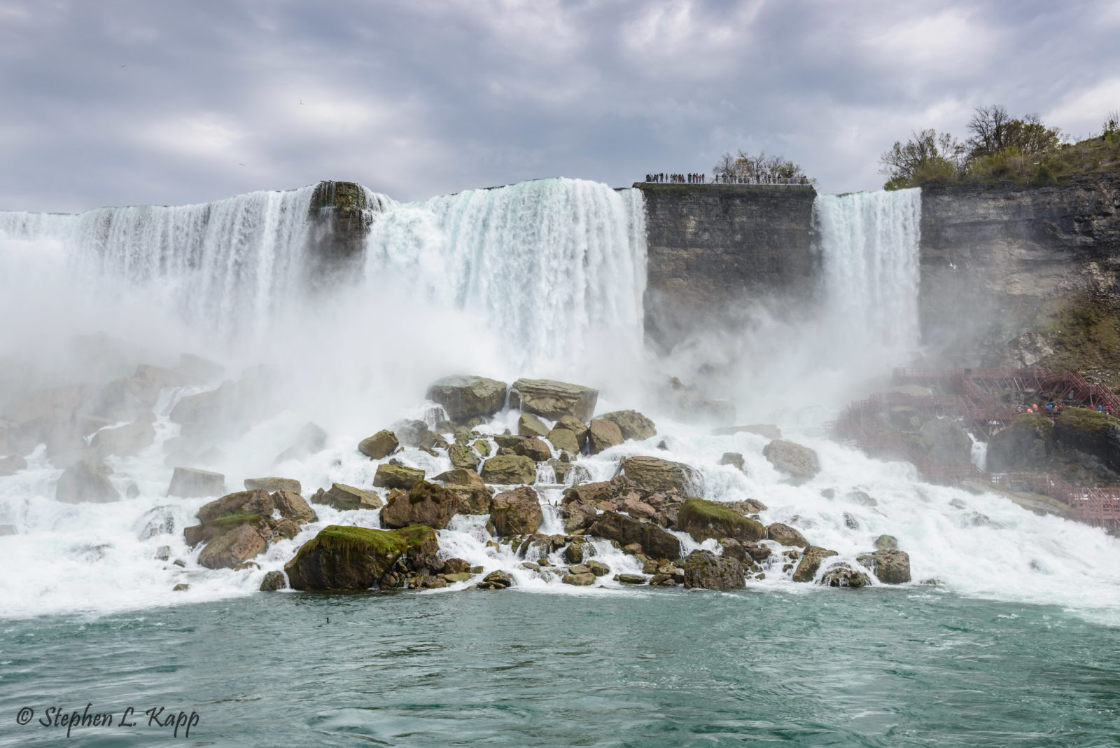 American Falls And Bridal Veil Falls At Right Niagara Falls