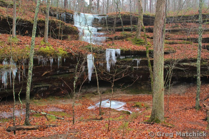 Icicles In Hickory Canyons 1