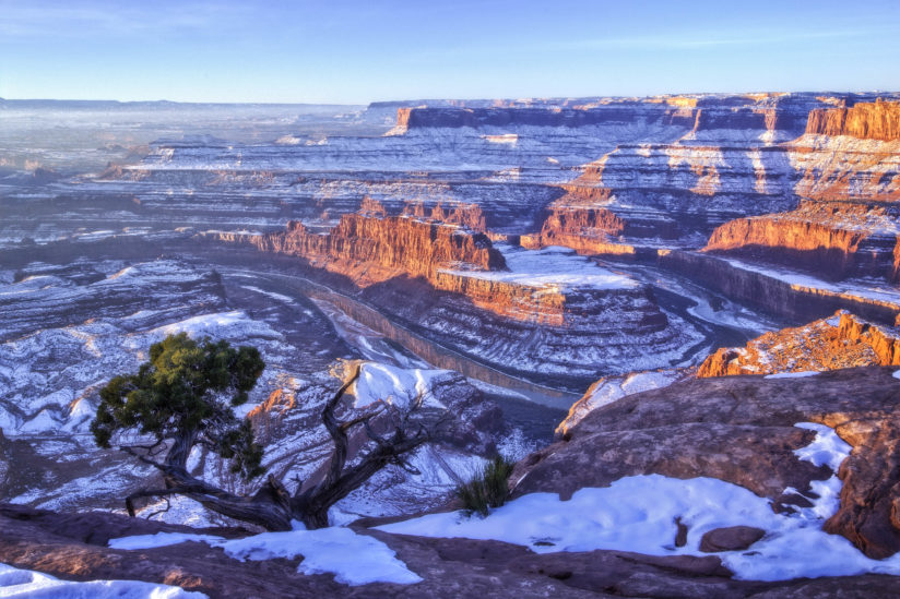 Snow at Dead Horse Point
