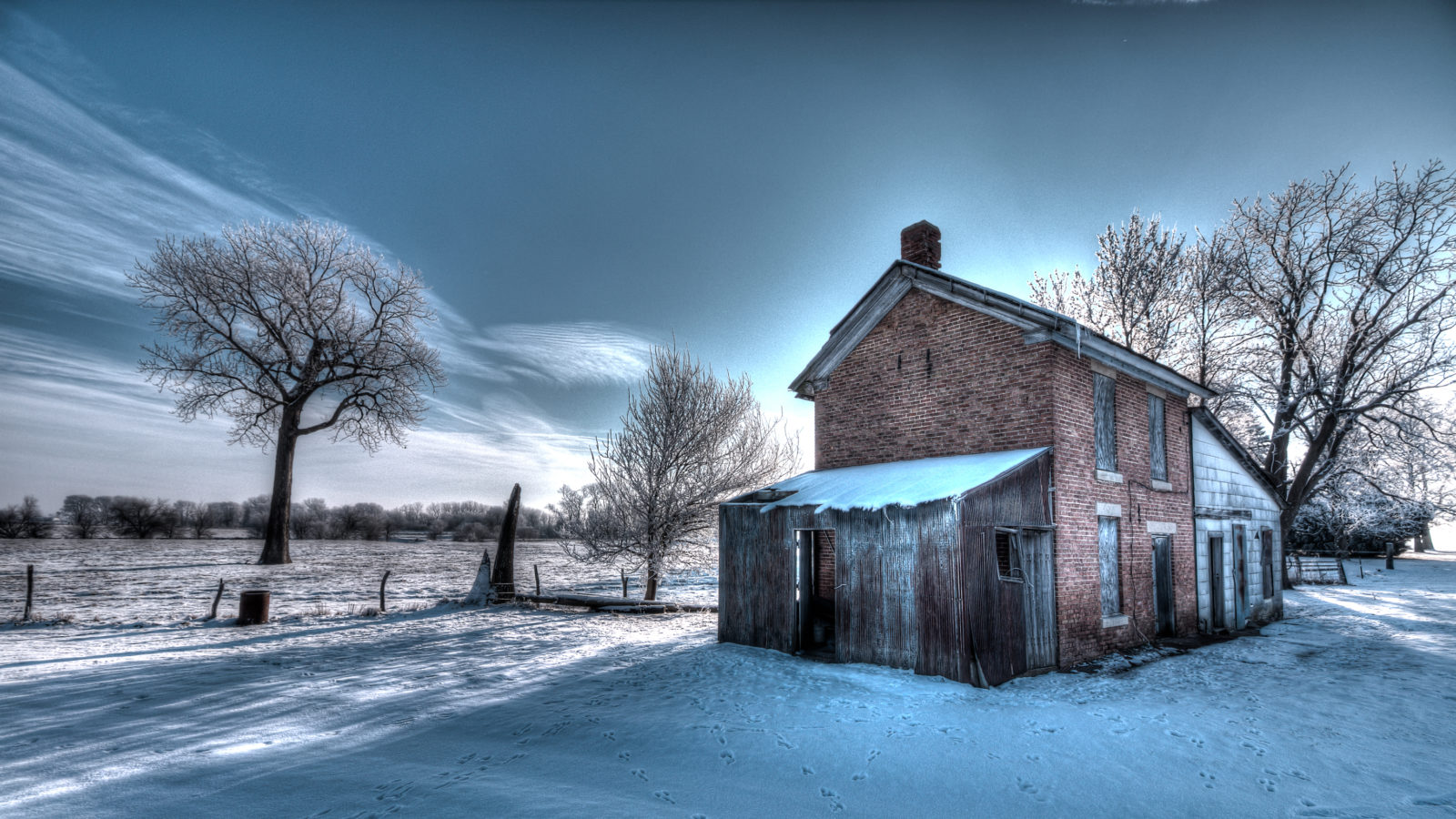 Frozen Farmhouse