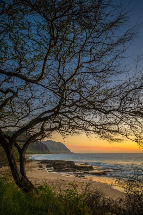 Makua Beach Sunset