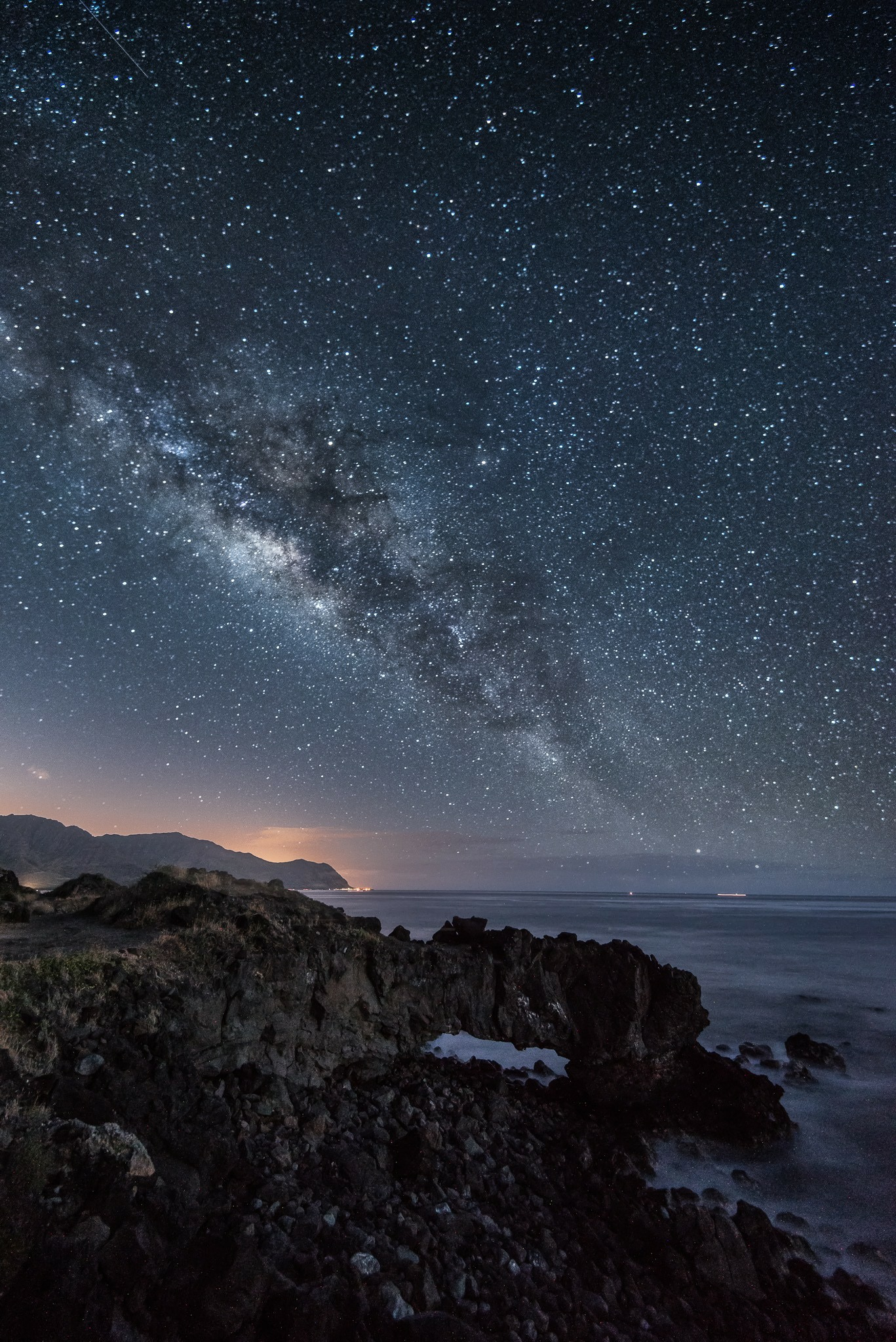 Natural Sea Arch Astrophotography