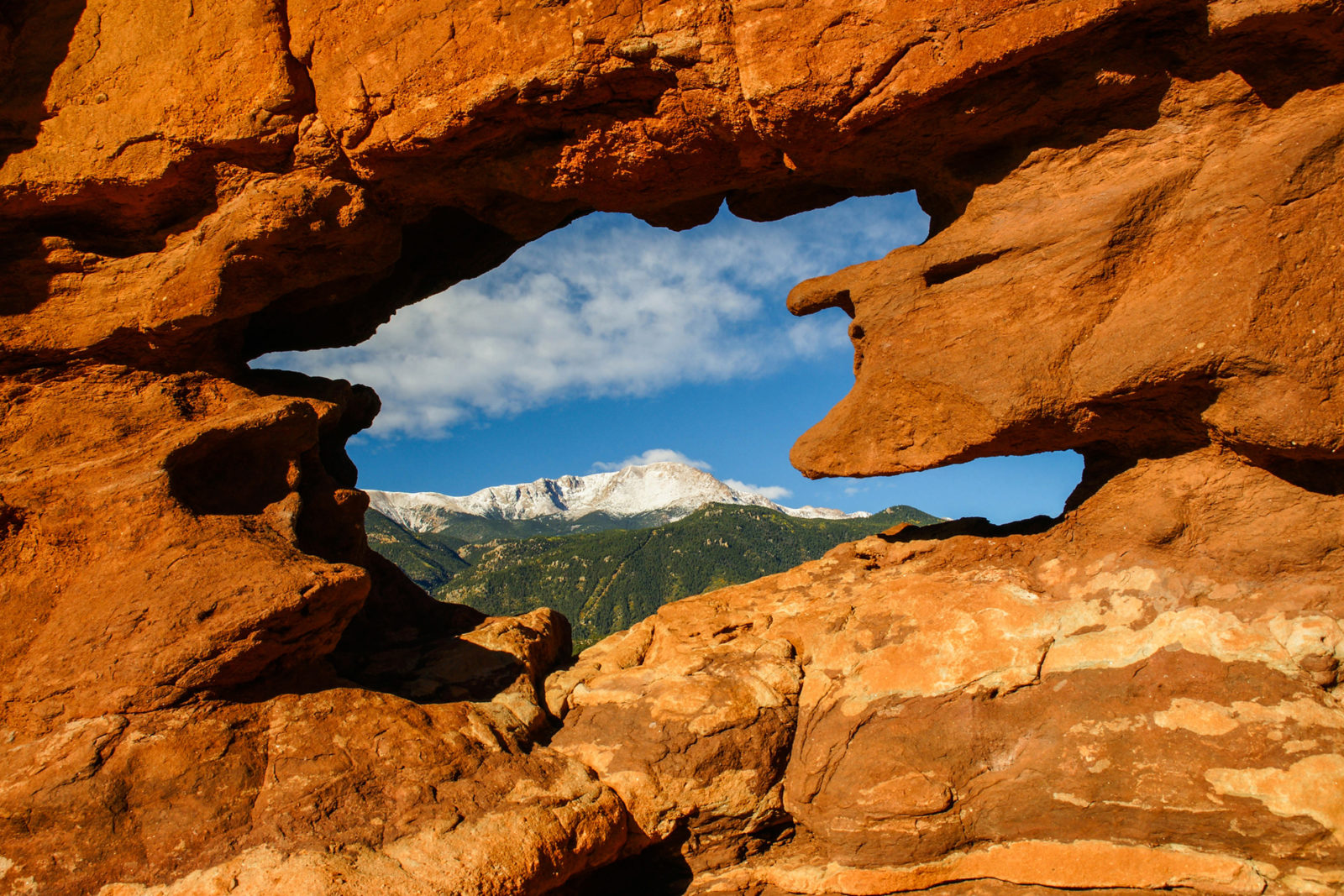Window on Pikes Peak