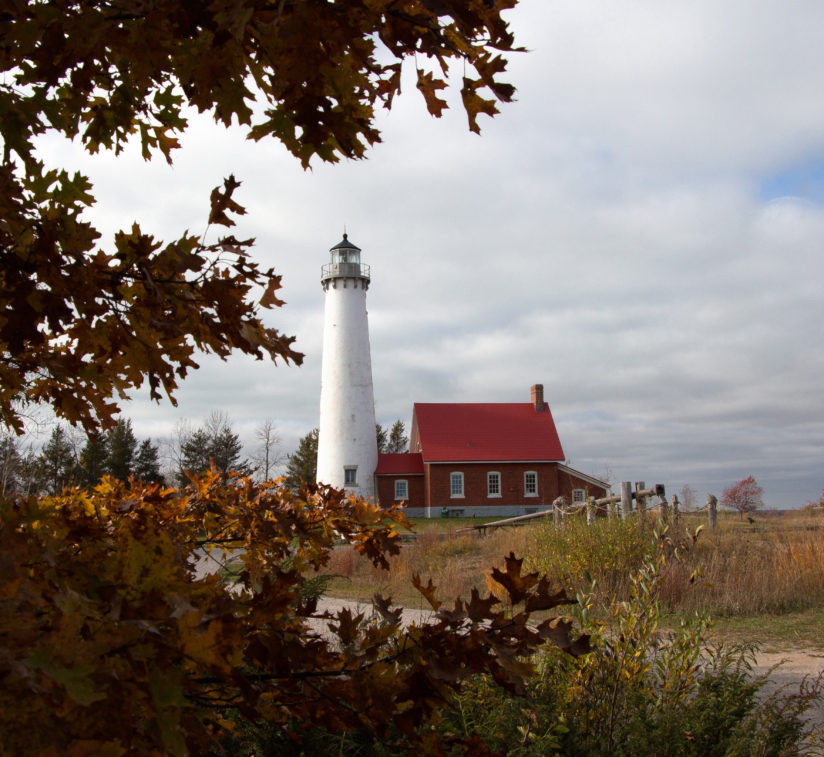 Tawas Lighthouse in Autumn