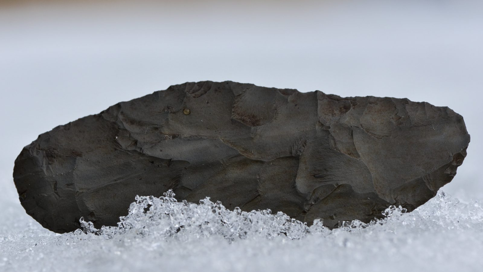 Stone Blade in Snow