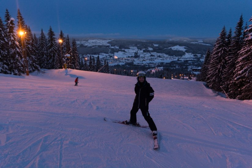 Dark Skiing, Norway