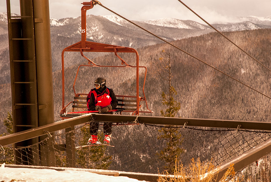 Ski Patrol on the Lift