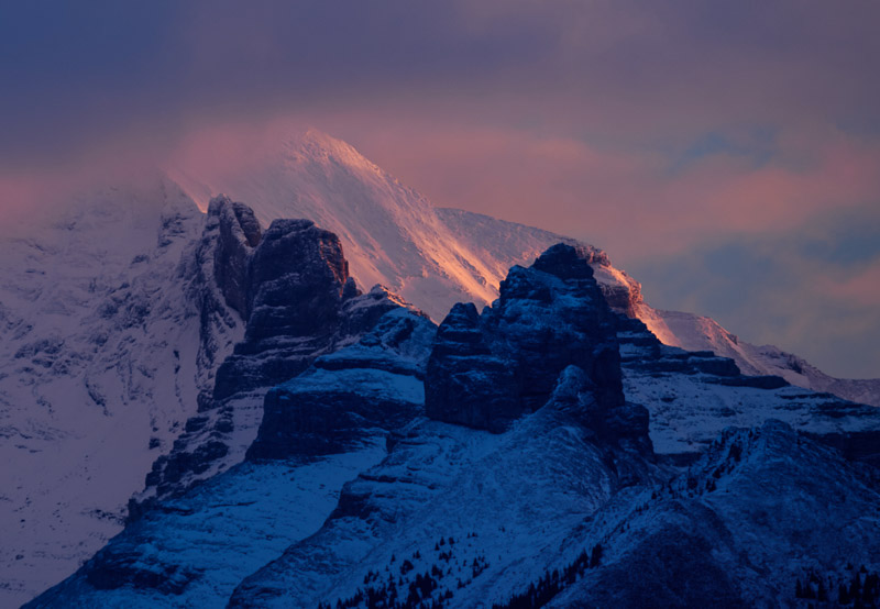 First light in Banff