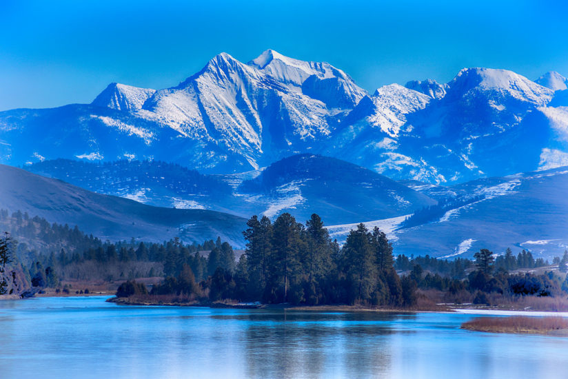 Flathead River with Mission Mountains