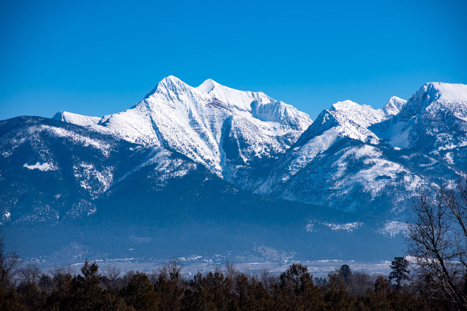 The Mission Mountains from the Bison Range