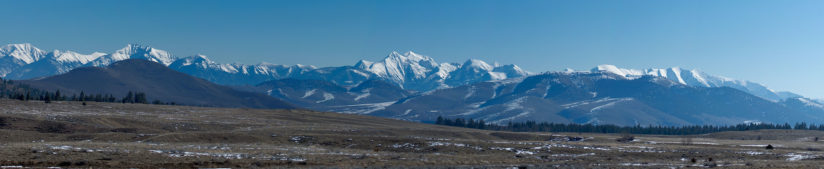 Panoramic View of the Mission Mountains from the Bison Range