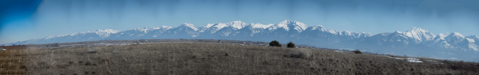 Panoramic View of the Mission Mountains