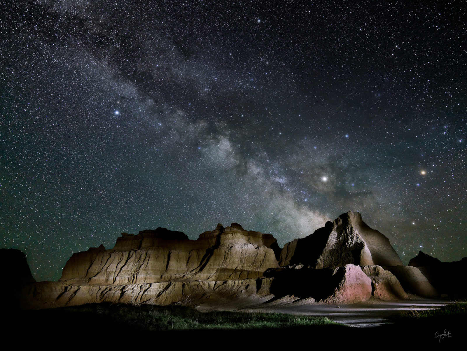 Badlands Night