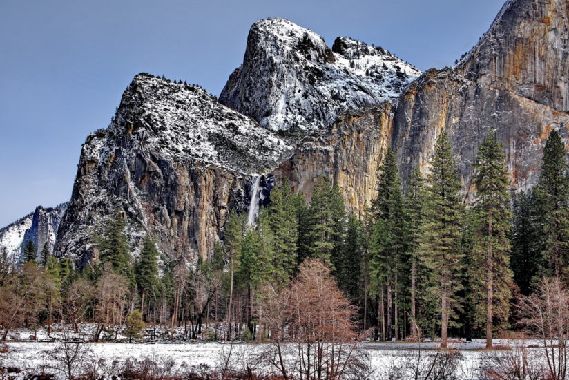 Cathedral Rocks and Bridalveil Fall