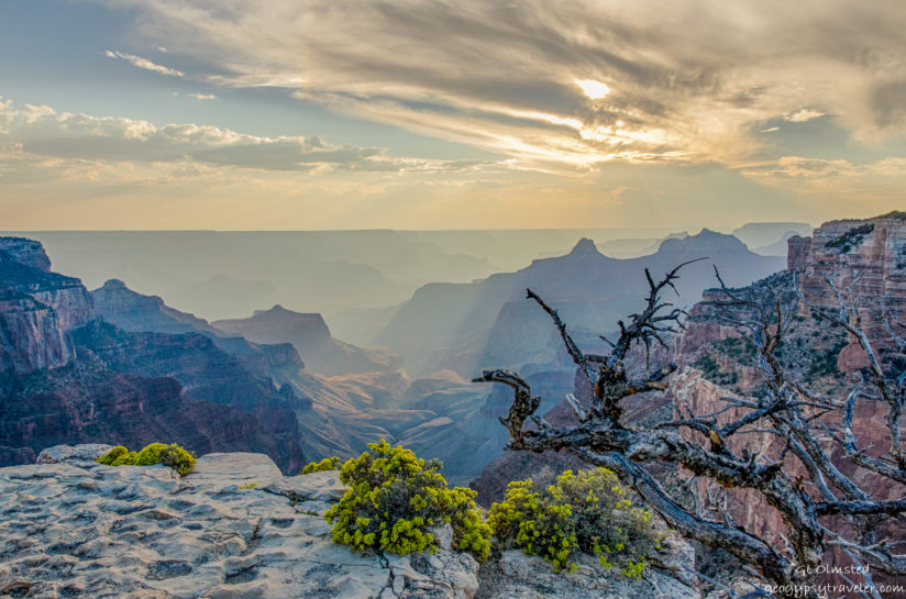 Light seeks the depths of Grand Canyon